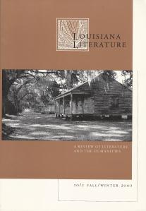 Originally published in Louisiana Literature