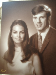 A few months after they were married, Fall 1967.