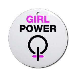 girl_power_ornament_round